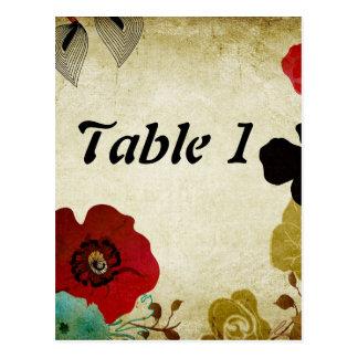 Table number Postcard