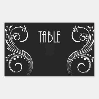 Table Number Postcard Rectangular Sticker