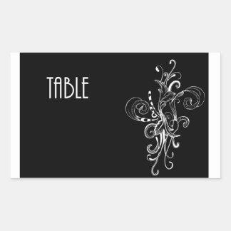 Table Number Postcard Sticker
