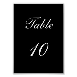 Table Number Print