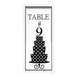 Table Number Rack Card