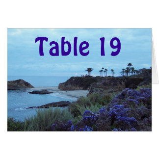Table Number Reception Seating Greeting Card