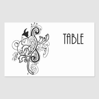 Table Number Rectangular Sticker