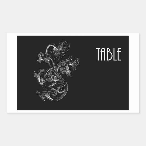 Table Number Rectangular Sticker