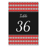 [ Thumbnail: Table Number + Red and Gray Diamond Shape Pattern ]