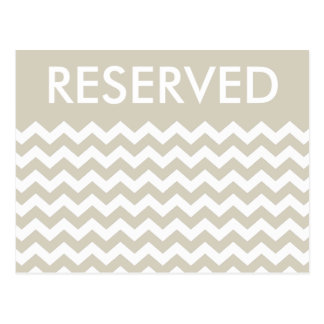 Table Number RESERVED Sign Modern Chevron Postcard