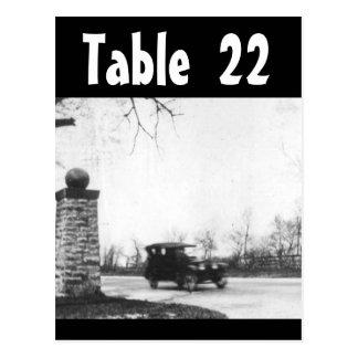 Table Number Roaring Twenties Wedding Receptions Post Cards
