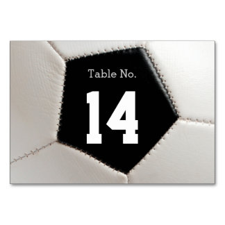 Table Number Soccer | Football