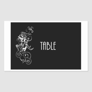 Table Number Sticker