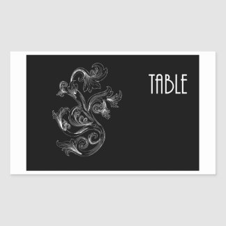 Table Number Rectangular Stickers