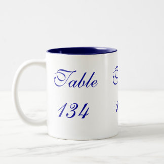 Table Number Two-Tone Coffee Mug