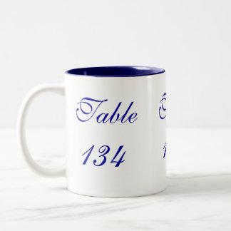 Table Number Two-Tone Coffee Mug