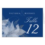 Table Number Wedding Abstract Floral Fold-over Cards