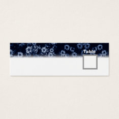 Table Number Wedding Black Floral Mini Business Card at Zazzle