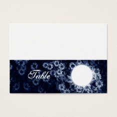 Table Number Wedding Folding Blue Floral Business Card at Zazzle