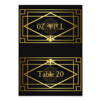 Table number,Wedding, Meeting,Great Gatsby,black Card
