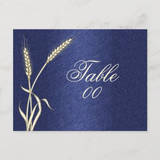 Table number wedding party birthday postcard
