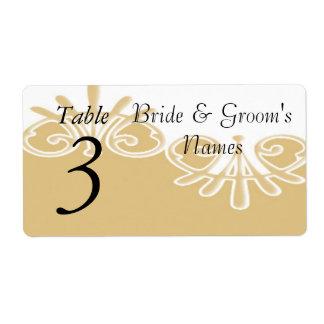 Table Number Wedding Reception wine bottle labels