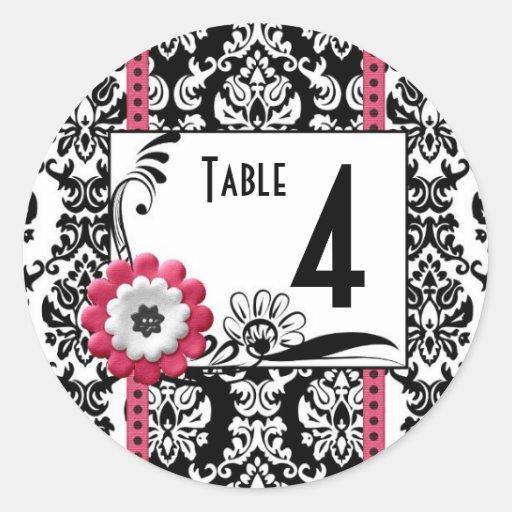 TABLE NUMBER Wine Beer bottle Wedding Labels Sticker