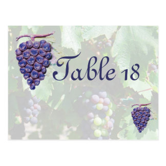 Table Number Wine Country Wedding Post Card