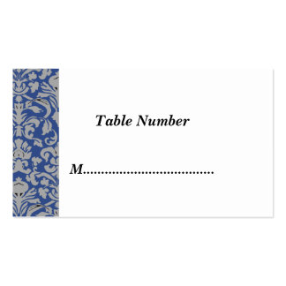 Table Numbers Blue Damask Business Card