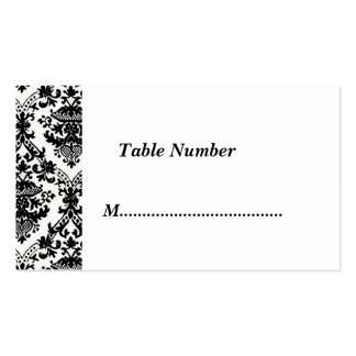 Table Numbers Classic  Damask Business Card