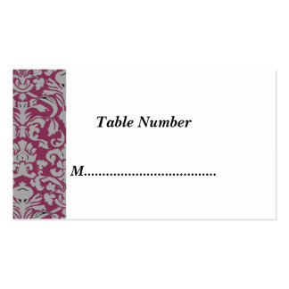 Table Numbers Classic Red Damask Business Card