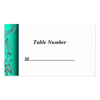 Table Numbers green Business Card