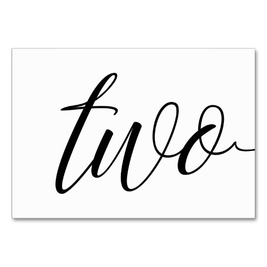 Table Numbers - Luxe Typography (Black) 2