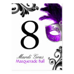 Table Numbers - Masquerade Ball Postcard