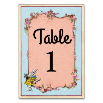 Table Numbers Wedding Wonderland Rabbit Cards