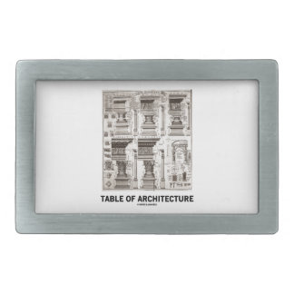 Table Of Architecture (Different Column Forms) Belt Buckle