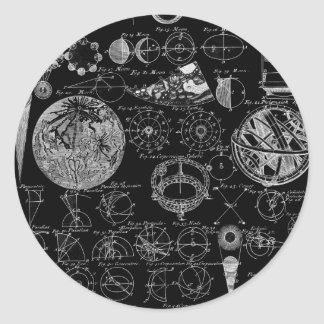 Table of Astronomy Classic Round Sticker