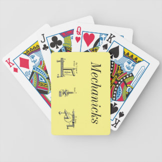 """Table of Mechanicks ~ """"Yeah, Right ~ Now I Get It"""" Bicycle Playing Cards"""
