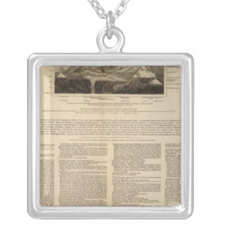 Table of mountain chains silver plated necklace