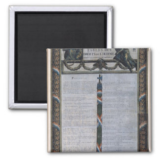 Table of the Declaration of the Rights of Man Magnet