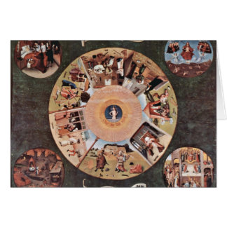 Table Of The Mortal Sins.,  By Hieronymus Bosch (B Cards