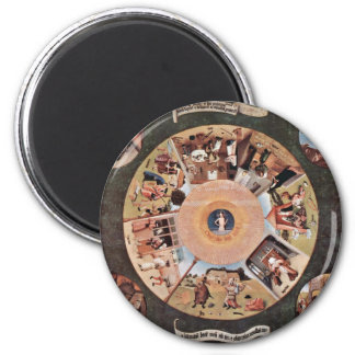 Table Of The Mortal Sins.,  By Hieronymus Bosch (B Magnets