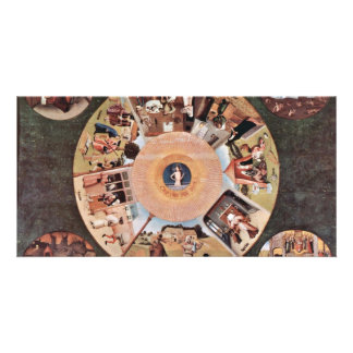 Table Of The Mortal Sins.,  By Hieronymus Bosch (B Personalized Photo Card