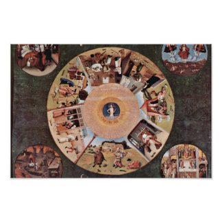 Table Of The Mortal Sins.,  By Hieronymus Bosch (B Poster