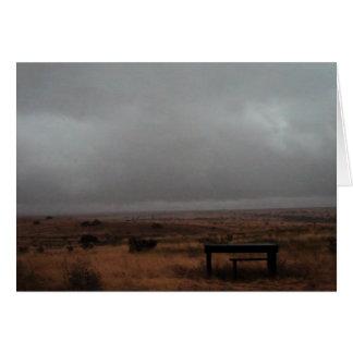 table on a gloomy day 2 card