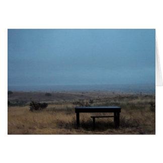 table on a gloomy day card