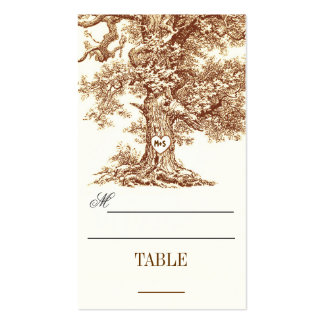 table place cards - escort cards with tree business card