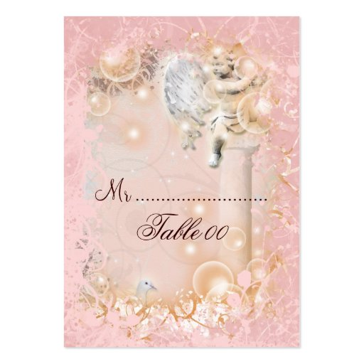 Table placement card vintage wedding business cards