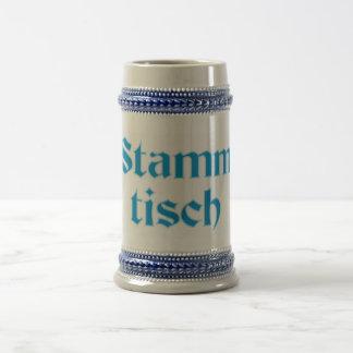 Table reserved for regulars Bavaria Bavarian Bavar Beer Stein