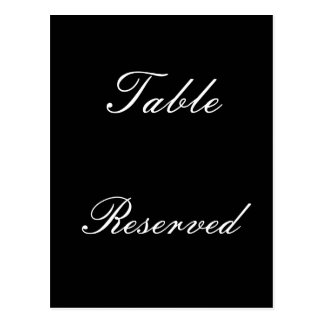 Table Reserved Postcard