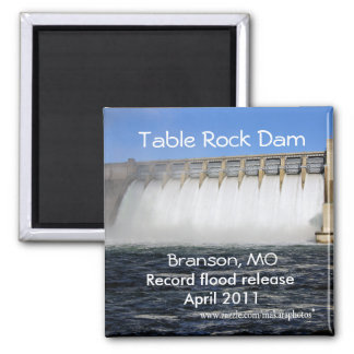 Table Rock Dam Branson Magnet- customize 2 Inch Square Magnet