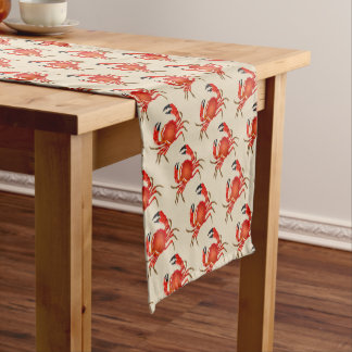 Table Runner-Red Crabs Short Table Runner