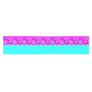 Table Runner, Turquoise Colored & Fuchsia Colored Short Table Runner