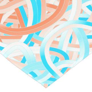 Table Runner, Turquoise&Coral Tangle Design Short Table Runner